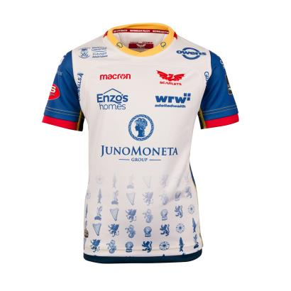 Scarlets Alternate Rugby Shirt S/S Kids 2019 - Front