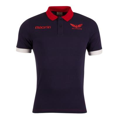 Scarlets Leisure Polycotton Pique Polo Navy 2019 - Front