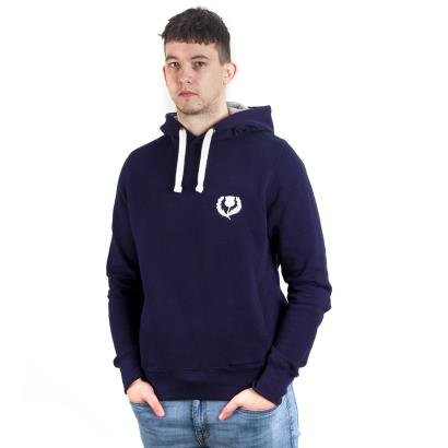 Scotland Classic Polycotton Hoodie Oxford Navy - Model 1