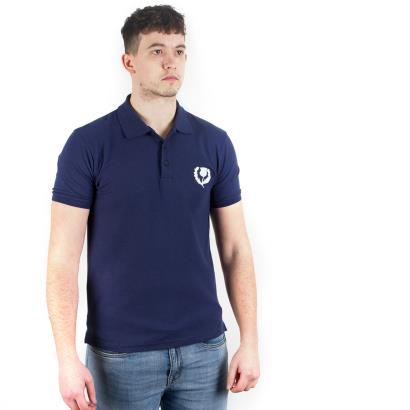 Scotland Classic Cotton Pique Polo Navy - Model 1