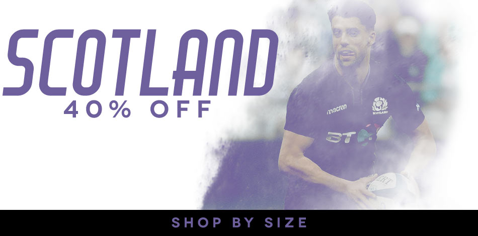 40% off Scotland - SHOP BY SIZE!