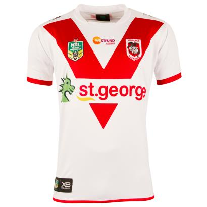 St George Illawarra Dragons Rugby League Home Shirt S/S 2018 - Front