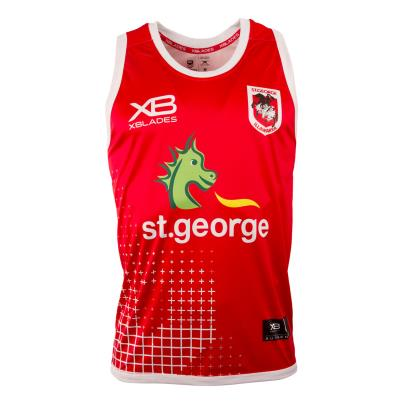 St George Illawarra Dragons Rugby League  Singlet Cherry 2018 - Front