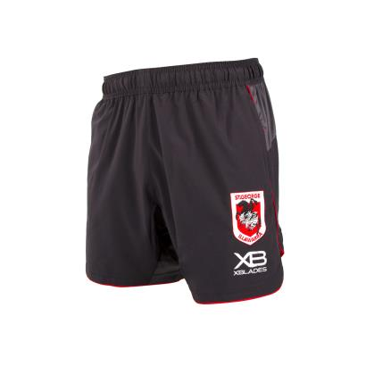 St George Illawarra Dragons Rugby League Shorts Nine Iron 2018 - Front 1