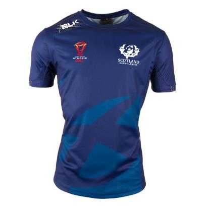 Scotland Rugby League Training Tee Navy 2018 - Front