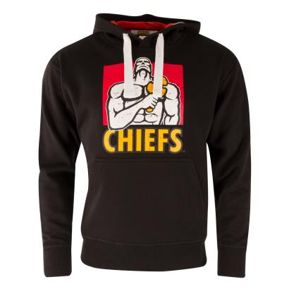 Super Rugby Chiefs Hoodie Black - Front
