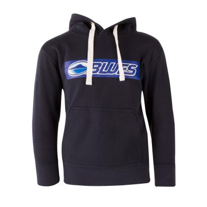 Super Rugby Blues Hoodie Navy Youths - Front