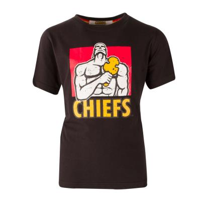 Super Rugby Chiefs Tee Black Kids - Front