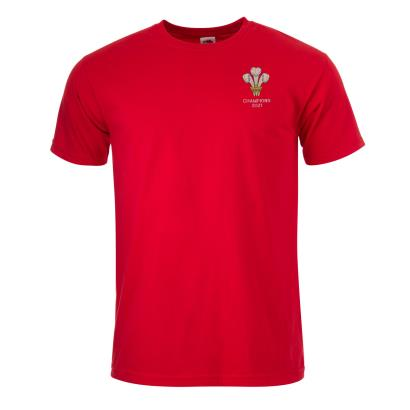 Wales 2021 6 Nations Champions Classic Tee Red - Front