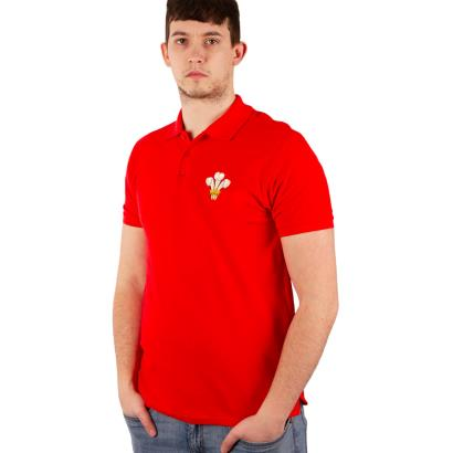 Wales Classic Cotton Pique Polo Red - Model