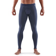 57f52b16c2555 Skins DNAmic Sleep Recovery Long Compression Tights Navy Marle Mens ...