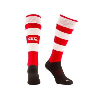 Canterbury Hooped Rugby Socks Red - Front