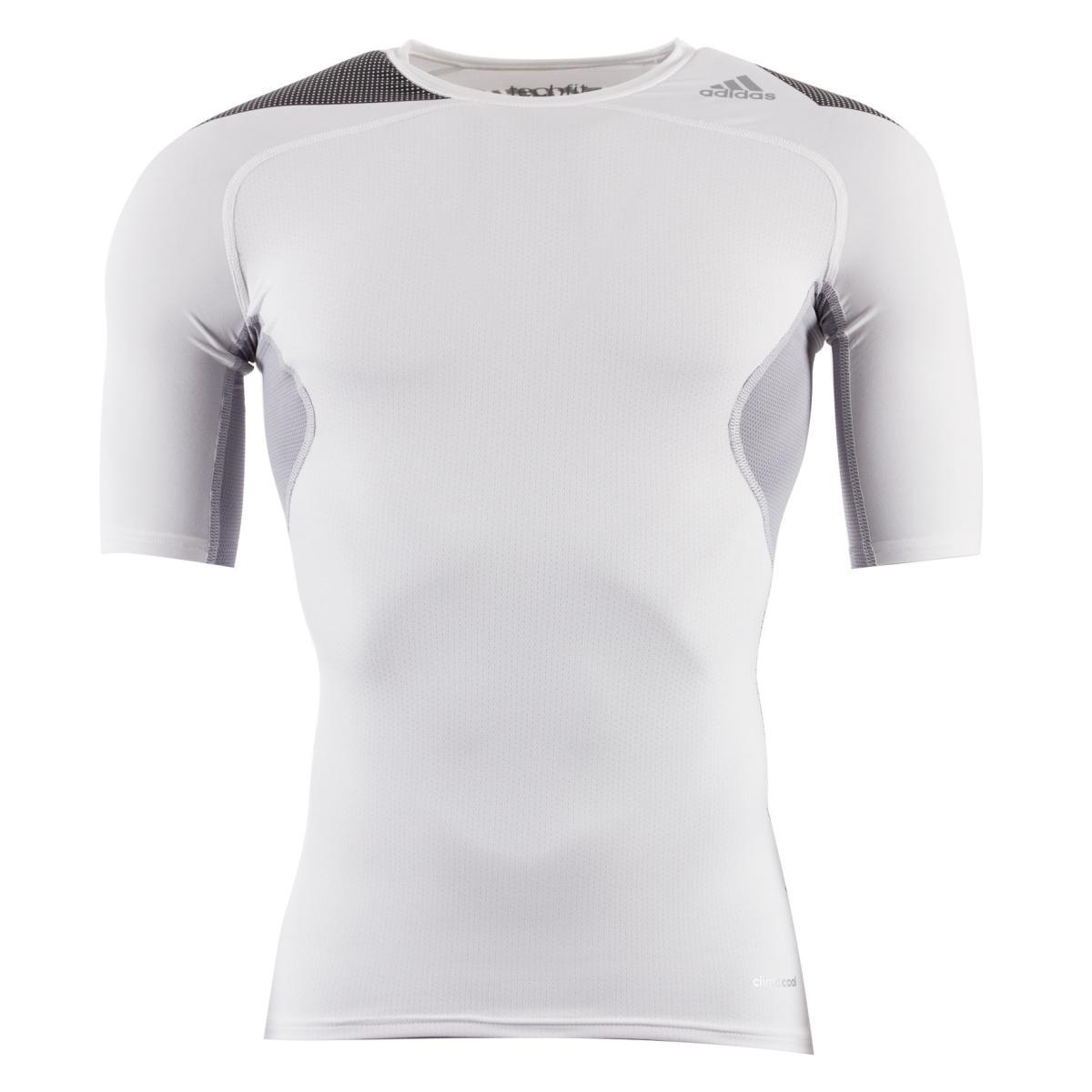 4a9aafa8af0c White adidas Techfit Cool Tee (Short Sleeved)