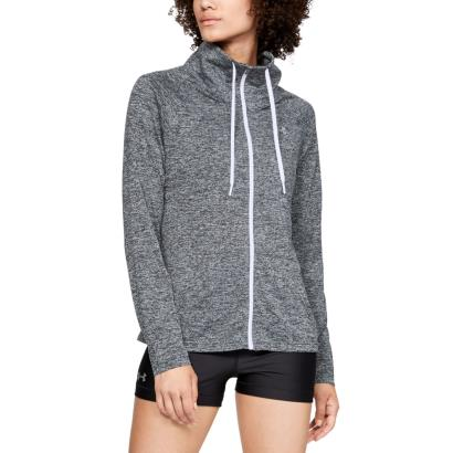 Under Armour Womens Twist Tech Full Zip Hoodie Black - Model 1