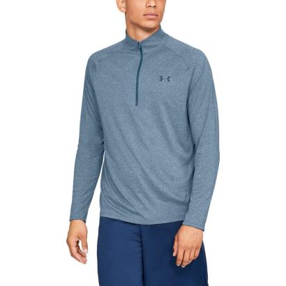 Under Armour Tech 2.0 1/2 Zip Top Petrol Blue - Model 1