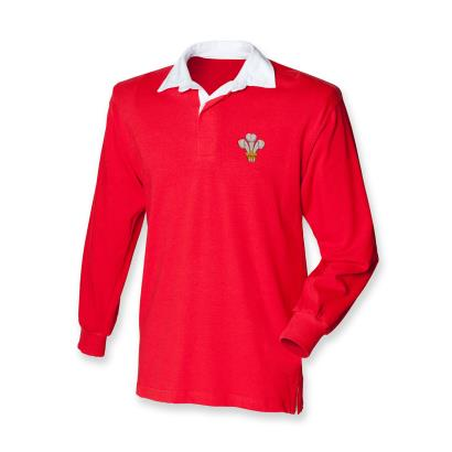 Front Row Wales Classic Rugby Shirt L/S Kids - Front