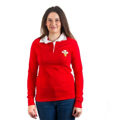 Wales Womens Classic Rugby Shirt L/S - Model 1