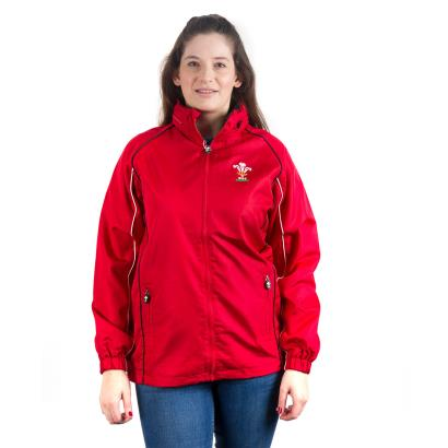 Wales Womens Showerproof Jacket Red - Front