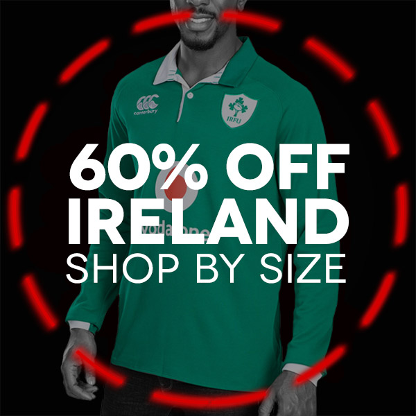 Ireland Rugby shop by size