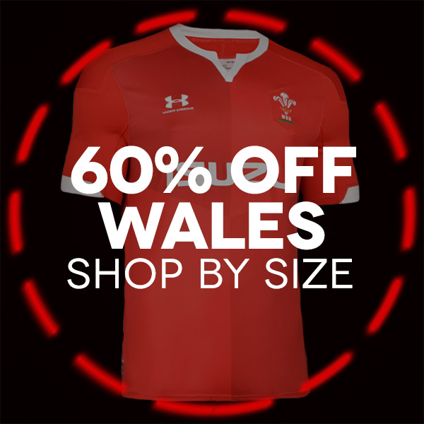 Wales Rugby shop by size