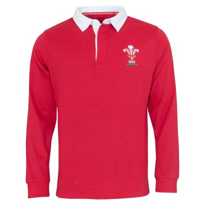 Wales Classic Rugby Shirt L/S - Front