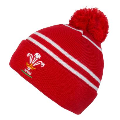 Wales Bobble Hat Red - Front