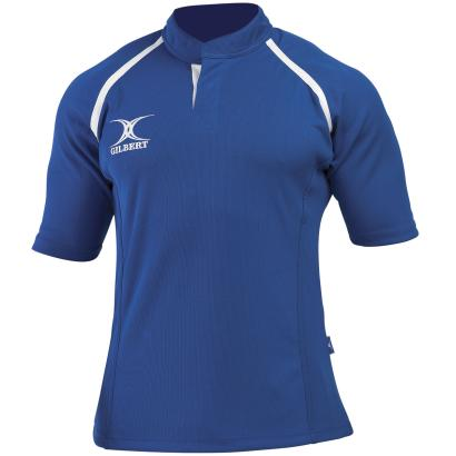 Gilbert Teamwear Xact Plain Match Shirt Royal - Front