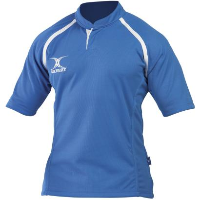 Gilbert Teamwear Xact Plain Match Shirt Sky - Front